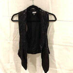 H&M sequins black vest